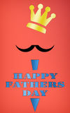 Happy Fathers day. Stock Photography