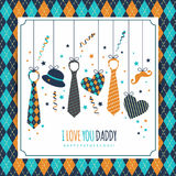 Happy fathers day illustration. Symbol of dad. Stock Image