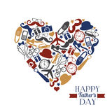 Happy fathers day illustration. Symbol of dad. Royalty Free Stock Photos