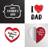 Happy fathers day invitation card Royalty Free Stock Photography