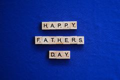 Happy Fathers Day on Isolated background. stock photo