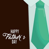 Happy fathers day letters emblem and related icons image Royalty Free Stock Image