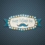 Happy Fathers Day Light Billboard with Ribbon Royalty Free Stock Photos