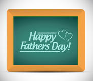 Happy fathers day message on a blackboard. Royalty Free Stock Image
