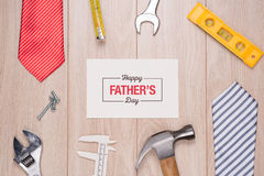 Happy Fathers Day. Message written on a heart shape royalty free stock images