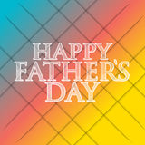 Happy fathers day multicolor background Stock Photos