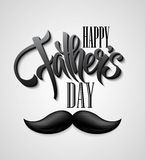 Happy Fathers Day mustache card Stock Image