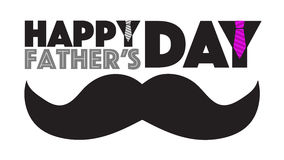 Happy fathers day mustache sign Stock Photos