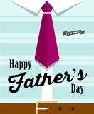 Happy fathers day necktie with blue shirt royalty free illustration