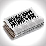 Happy Fathers Day newspaper headline Stock Photography