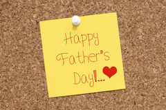 Happy Fathers Day Note For Dad Royalty Free Stock Image