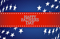 Happy fathers day patriotic background Royalty Free Stock Images