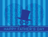 Happy Fathers Day Polka Dot Heart  Illustration Stock Images