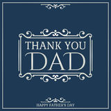 Happy Fathers Day poster. Thank You Dad Royalty Free Stock Image