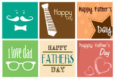 Happy fathers day print Royalty Free Stock Photo
