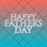 Happy fathers day red and blue sign Stock Images