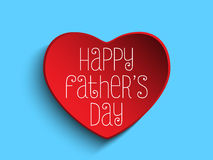 Happy Fathers Day Red Heart Background Royalty Free Stock Photo