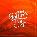 Happy Fathers Day retro label on red grunge texture. Stock Images