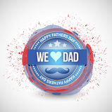 Happy fathers day seal illustration design Royalty Free Stock Image