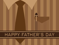 Happy Fathers Day Shirt Tie Illustration Royalty Free Stock Image