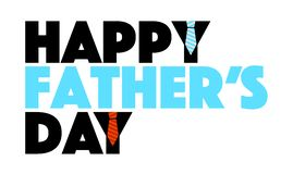 Happy Fathers day sign in blue and black. Stock Photography