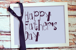 Happy fathers day sign on board. Stock Photos