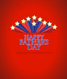Happy fathers day stars background Royalty Free Stock Photography