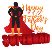 Happy Fathers Day Super Dad Color Illustration Royalty Free Stock Photography
