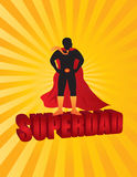 Happy Fathers Day Super Dad Sun Rays Illustration Stock Photos