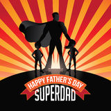 Happy Fathers Day Superdad burst Royalty Free Stock Photo