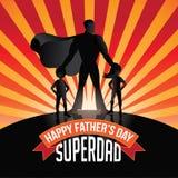 Happy Fathers Day Superdad burst. EPS 10 vector royalty free stock illustration Royalty Free Stock Photo