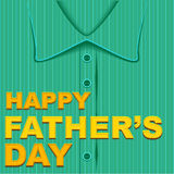 Happy Fathers Day. Template greeting card Stock Images