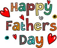Happy Fathers Day Text Stock Photo