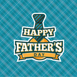 Happy Fathers Day tie design. Stock Image
