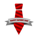 Happy Fathers day tie ribbon illustration design Stock Photography
