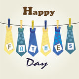 Happy fathers day  ties Royalty Free Stock Image