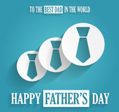Happy Fathers Day. To the best dad in the world. Stock Photos
