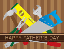 Happy Fathers Day Tools Illustration Stock Images