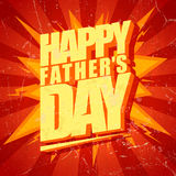 Happy Fathers day typographical pop-art card. Stock Image