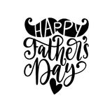 Happy Fathers Day, vector calligraphy for greeting card,festive poster etc. Hand lettering on white background. Happy Fathers Day, vector calligraphic royalty free illustration