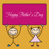 Happy Father's Day Vector Cartoon Royalty Free Stock Photo