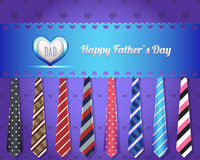 Happy Fathers Day Vector Design. Vector ties, you can change this image that it was uploaded also with eps10 file Stock Photography