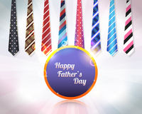 Happy Fathers Day Vector Design. Background special ties style design Royalty Free Stock Photo