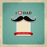Happy fathers day vintage greeting card Royalty Free Stock Photo