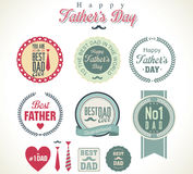 Happy fathers day vintage retro Royalty Free Stock Image