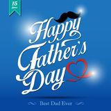 Happy fathers day  vintage retro type font Stock Images