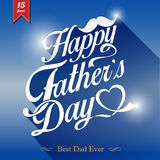 Happy fathers day  vintage retro type font Royalty Free Stock Photo