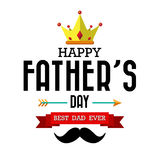 Happy fathers day vintage retro type font Royalty Free Stock Photography