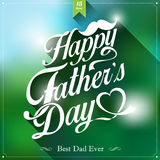 Happy fathers day  vintage retro type font Stock Photography