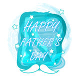Happy fathers day watercolor design Royalty Free Stock Photography